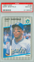 1989 Fleer Baseball Gary Sheffield ROOKIE Milwaukee Brewers PSA 10 Gem Mint