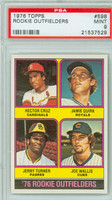 1976 Topps Baseball 598 1976 Rookie Outfielders PSA 9 Mint