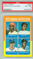 1975 Topps Baseball 622 Rookie Outfielders PSA 8 Near Mint to Mint