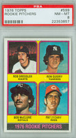 1976 Topps Baseball 599 1976 Rookie Pitchers PSA 8 Near Mint to Mint