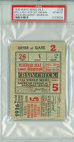 1936 World Series Giants at Yankees - Game 5 Ticket Stub NYG 5-4 (10) HR Selkirk PSA/DNA Authentic