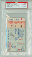 1961 World Series Yankees at Reds - Game 4 Ticket Stub NY 7-0 WP Whitey Ford LP Jim O'Toole [Y61_SERIES614S_pa_6] PSA/DNA Authentic