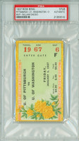 1937 Rose Bowl Ticket Stub - Pitt Panthers vs Washington Huskies  - January 1, 1937 PSA/DNA Authentic