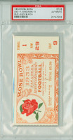 1953 Rose Bowl Ticket Stub - USC Trojans vs Wisconsin Badgers Rudy Bukich MVP January 1, 1953 PSA/DNA Authentic