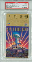 Super Bowl XXVII Ticket Stub - Cowboys vs Bills DAL 51 BUF 17 Gold Variety PSA/DNA Authentic