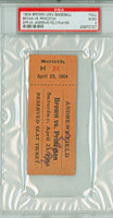 1904 Brown University College Baseball FULL Ticket vs Princton Tigers  - April 23, 1904 Good