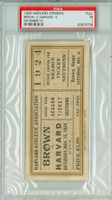 1924 Harvard Crimson FULL Ticket vs Brown University  - November 15, 1924 Poor