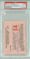 1961 San Francisco Giants Ticket Stub vs Milwaukee Braves Willie Mays 2 HR #286-#287 HRs: Aaron, Mathews, McCovey  - May 13, 1961 PSA/DNA Authentic
