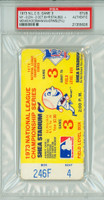 1973 NL Championship Reds at Mets GM 3 - Ticket Stub NY 9-2 WP Koosman HR Staub [Y73_BBPLAY_METS3S_pa_4] PSA/DNA Authentic