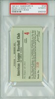 1931 New York Yankees Ticket Stub vs Boston Red Sox Babe Ruth 2B #425 Lou Gehrig Hit  - April 18, 1931 PSA/DNA Authentic