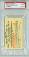 1928 New York Giants Ticket Stub vs Pittsburgh Pirates Burleigh Grimes Win #198 Hack Wilson RBI #399  - July 26, 1928 PSA/DNA Authentic