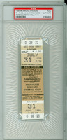 1990 Milwaukee Brewers Full Ticket vs Texas Rangers NOLAN RYAN 300th CAREER WIN - July 31, 1990 PSA/DNA Authentic