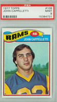 1977 Topps Football 108 John Cappelletti ROOKIE Los Angeles Rams PSA 9 Mint