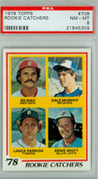 1978 Topps Baseball 708 Rookie Catchers PSA 8 Near Mint to Mint