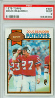 1979 Topps Football 401 Doug Beaudoin New England Patriots PSA 9 Mint