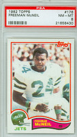 1982 Topps Football 176 Freeman McNeil New York Jets PSA 8 Near Mint to Mint