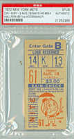 1972 New York Mets Ticket Stub vs Cincinnati Reds Willie Mays HR #654 - August 18, 1972 PSA/DNA Authentic