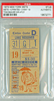 1973 New York Mets Ticket Stub vs Pittsburgh Pirates Tom Seaver Win #121 - May 18, 1973 PSA/DNA Authentic