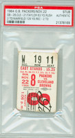 1964 Green Bay Packers Ticket Stub vs Cleveland Browns Jim Taylor 63 Yds, 2 TDs - November 22, 1964 PSA/DNA Authentic