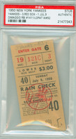 1950 New York Yankees Ticket Stub vs Boston Red Sox Joe DiMaggio RBI #1411 Eddie Lopat Win #92  - July 9, 1950 PSA/DNA Authentic