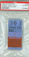 1962 Chicago Cubs Ticket Stub vs Los Angeles Dodgers Don Drysdale Win #96 - July 21, 1962 PSA/DNA Authentic