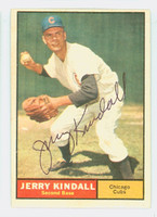 Jerry Kindall AUTOGRAPH 1961 Topps #27 Cubs CARD IS VG/EX; AUTO CLEAN  [SKU:KindJ2702_T61BBk]