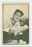 Sid Hudson AUTOGRAPH d.08 1953 Bowman Black #29 Pirates CARD IS F/P; CREASES