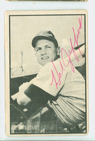 Hal Jeffcoat AUTOGRAPH d.07 1953 Bowman Black #37 Reds CARD IS F/P; CREASES