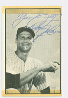 Don Johnson AUTOGRAPH d.15 1953 Bowman Black #55 Senators CARD IS F/P, TAPE FR SCRAPBOOK