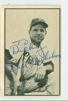 Bill Nicholson AUTOGRAPH d.96 1953 Bowman Black #14 White Sox CARD IS F/G, CRN CLIPPED