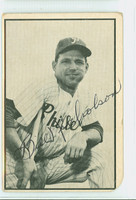 Bill Nicholson AUTOGRAPH d.96 1953 Bowman Black #14 White Sox CARD IS G/VG; CRN WEAR, PERS