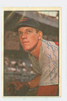 Joe Nuxhall AUTOGRAPH d.07 1953 Bowman Color #90 Reds CARD IS F/G; LT CREASE, SL BEND  [SKU:NuxhJ1505_BW53BBCk]