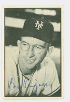 Bill Rigney AUTOGRAPH d.01 1953 Bowman Black #3 Giants CARD IS F/P; CREASES, AUTO CLEAN
