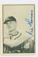 Keith Thomas AUTOGRAPH d.95 1953 Bowman Black #62 Athletics CARD IS F/P; CREASES