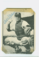 Del Wilber AUTOGRAPH d.02 1953 Bowman Black #24 Cardinals CARD IS POOR, TRIMMED, TAPE