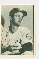 1953 Bowman Black Baseball 25 Johnny Sain New York Yankees Good to Very Good