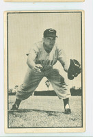 1953 Bowman Black Baseball 32 Rocky Bridges Cincinnati Reds Poor