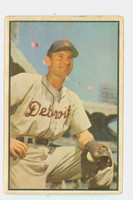 1953 Bowman Color Baseball 91 Steve Souchock Detroit Tigers Fair to Poor