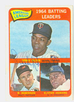 Brooks Robinson AUTOGRAPH 1965 Topps #1 AL Batting Leaders Orioles CARD IS VG/EX; AUTO CLEAN