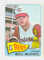 Bill McCool AUTOGRAPH d.14 1965 Topps #18 Reds CARD IS VG; CRN WEAR, AUTO CLEAN