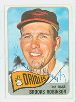 Brooks Robinson AUTOGRAPH 1965 Topps #150 Orioles CARD IS CLEAN EX  [SKU:RobiB1208_T65BBC]