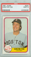 1981 Fleer Baseball 224 Carlton Fisk Boston Red Sox PSA 9 Mint