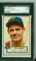 Ted Beard AUTOGRAPH d.11 1952 Topps #150 Pirates SGC/JSA CARD IS SHARP EX/MT