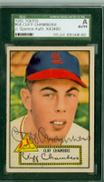 Cliff Chambers AUTOGRAPH d.12 1952 Topps #68 Cardinals Red Back SGC/JSA CARD IS CLEAN VG/EX