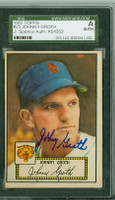 Johnny Groth AUTOGRAPH 1952 Topps #25 Tigers Red Back SGC/JSA CARD IS F/G: CLEAN FRONT, RESIDUE ON REV