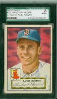 Randy Gumpert AUTOGRAPH d.08 1952 Topps #247 Red Sox SGC/JSA CARD IS F/G: HORIZ CREASE