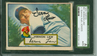 Vernon Law AUTOGRAPH 1952 Topps #81 Pirates SGC/JSA CARD IS CLEAN VG; AUTO BOLD