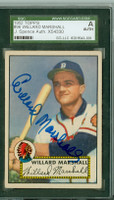 Willard Marshall AUTOGRAPH d.00 1952 Topps #96 Braves SGC/JSA CARD IS CLEAN EX