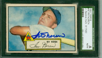 Irv Noren AUTOGRAPH 1952 Topps #40 Senators Red Back SGC/JSA CARD IS SHARP EX; AUTO BOLD AND CLEAN