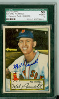 Mel Parnell AUTOGRAPH d.12 1952 Topps #30 Red Sox Red Back SGC/JSA CARD GRD SGC50; AUTO CLEAN, BOLD